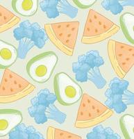 grönsaker och frukter mönster bakgrund