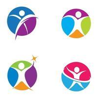 Wellness Logo Bilder Design vektor