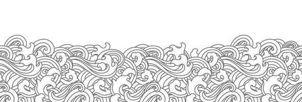 nahtloser Hintergrund der orientalischen Ozeanwelle. vektor