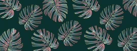 Muster der glänzenden Blätter der abstrakten Künste vektor