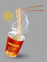 Instant Cup Nudeln Design vektor