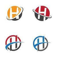 Buchstabe h Logo Bilder vektor