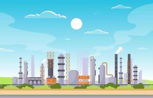 industrielle Fabrikgebäude flache Illustration