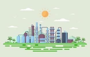industrielle Fabrikgebäude flache Illustration vektor