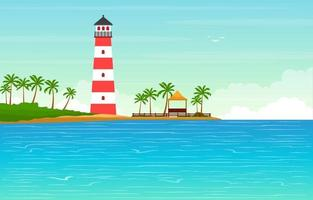 Sommerferien in tropischer Strandlandschaft vektor