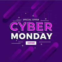 Cyber Montag Verkauf Vorlage Banner vektor