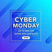 Best Sale Cyber Montag Banner vektor