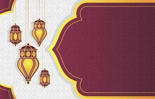 islamisk arabisk lykta för ramadan kareem eid mubarak bakgrund vektor