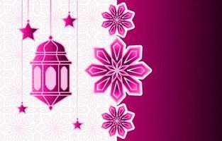 islamische arabische Laterne für Ramadan Kareem Eid Mubarak Hintergrund vektor
