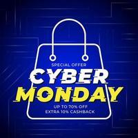 Technologie Cyber Montag Vorlage Banner vektor