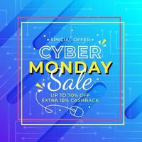 Cyber Montag Verkauf Banner vektor