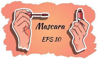 mascara i händerna vektor