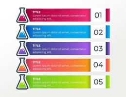 5 Schritte Business-Infografik-Elemente