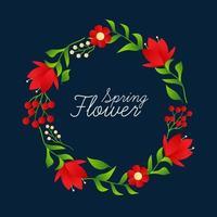 härlig blommig ramvektorillustration. bröllop blommor.