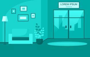 modern hotelllobby med möbelillustration vektor