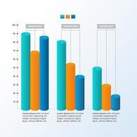 abnehmendes Balkendiagramm zur Darstellung des wirtschaftlichen Drucks oder der Infografik zu finanziellen Problemen vektor