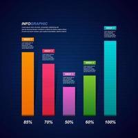 Balkendiagramm mit finanzieller Erholung nach der Krise Infografik vektor