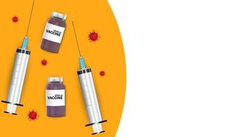 Zeit für die Impfung 2021. Coronavirus-Impfung vektor