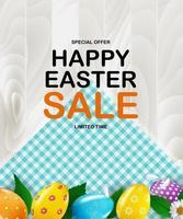 påsk affisch mall med realistiska påskägg 3d. mall för reklam, affisch, flygblad, gratulationskort.
