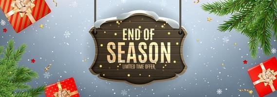 Winter Ende der Saison Verkauf Hintergrund Design. Vorlage für Werbung, Web, Social Media und Modewerbung.