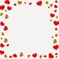 Urlaub Hintergrund Fotorahmen Vorlage. Valentinstag Liebeskonzept für Post in sozialen Netzwerk. Vektorillustration vektor