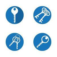 Hausschlüssel Logo Design