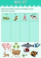 Schnitt- und Klebespiel für den Kindergarten vektor