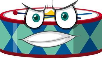 trumma seriefigur med ansiktsuttryck