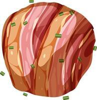 korv med bacon isolerad