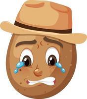 potatis seriefigur med ansiktsuttryck