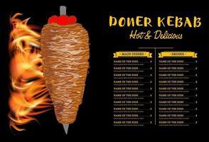 Dönerkochen und Zutaten für Kebab.