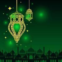 arabische islamische Laterne für Ramadan Kareem Eid Mubarak Hintergrund vektor