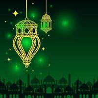 arabisk islamisk lykta för ramadan kareem eid mubarak bakgrund