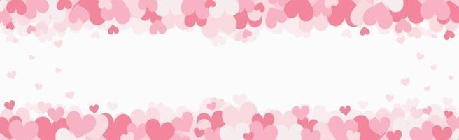 uppsättning festliga röda och rosa hjärtan - vektorillustration