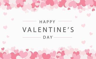 uppsättning festliga röda och rosa hjärtan med gratulationer - vektorillustration vektor