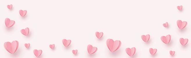 sanfte rosarote Herzen auf einem rosa Hintergrund - Illustration