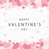 Satz festliche rote und rosa Herzen mit Glückwünschen - Vektorillustration