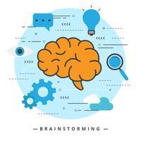 Brainstorming-Vektor-Illustration