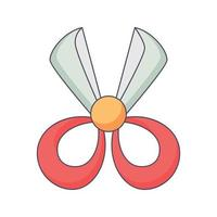 Scherenkarikatur Gekritzel Hand gezeichnete Konzept Vektor kawaii Illustration