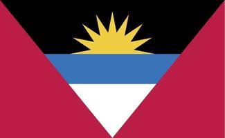 antigua och barbudas nationella flagga i exakta proportioner - vektorillustration vektor