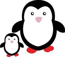 två söta pingviner vektor