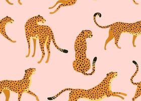 abstraktes Leopardenmuster. Vektor nahtlose Textur. trendige Illustration.