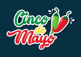 Cinco de Mayo bokstäver vektor