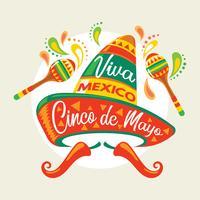 Cinco De Mayo affischmall för inbjudan till Fiesta Party vektor