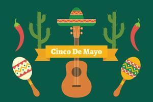 Hintergrund von Cinco de Mayo vektor