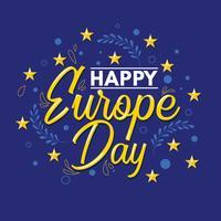 Glückliche Europa-Tagesschablone vektor