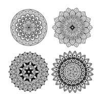 Blumen Mandala Ornament Set vektor