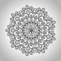 blommig mandala, dekorativ dekoration vektor