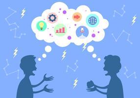 Brainstorming för att lösa problemvektorn