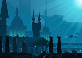 Stadt von Atlantis vektor